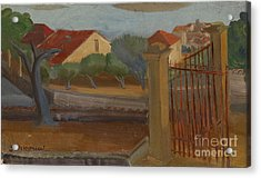 Garden Gate Acrylic Print by Celestial Images