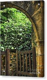 Garden Gate In Sarlat Acrylic Print by Elena Elisseeva