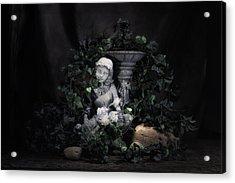 Garden Maiden Acrylic Print by Tom Mc Nemar