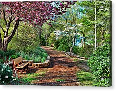 Garden Of Serenity Acrylic Print by Kenny Francis