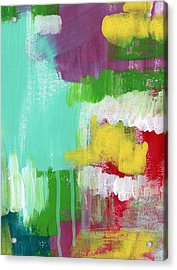 Garden Path- Abstract Expressionist Art Acrylic Print by Linda Woods