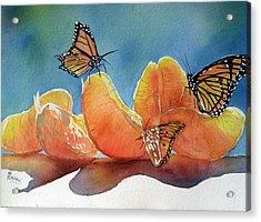 Garden Picnic Acrylic Print by Patricia Pushaw