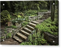 Garden Steps Acrylic Print by Tom Mc Nemar