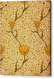 Garden Tulip Wallpaper Design Acrylic Print by William Morris