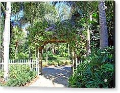 Garden Walkway Acrylic Print by Aimee L Maher Photography and Art Visit ALMGallerydotcom