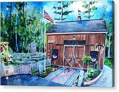 Gardening Shed Acrylic Print by Scott Nelson