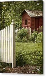 Garden's Entrance Acrylic Print by Margie Hurwich