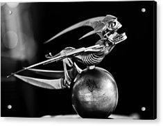 Gargoyle Hood Ornament 2 Acrylic Print by Jill Reger