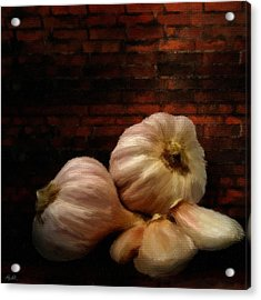 Garlic Acrylic Print by Lourry Legarde