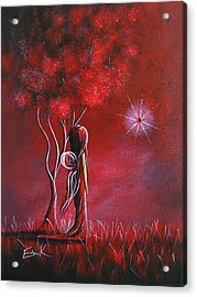 Garnet Fairy By Shawna Erback Acrylic Print by Shawna Erback