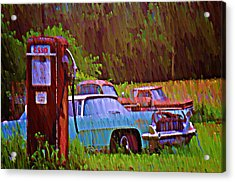 Gas And Go Acrylic Print by Bill Cannon