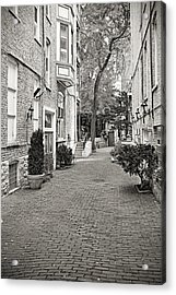 Gaslight Court Chicago Old Town Acrylic Print by Christine Till