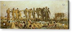 Gassed    An Oil Study Acrylic Print by John Singer Sargent