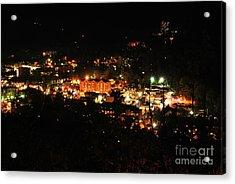 Gatlinburg At Night Acrylic Print by Nancy Mueller