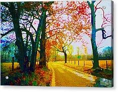 Gatlinburg In The Rain Acrylic Print by CHAZ Daugherty