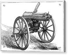 Gatling Machine Gun Acrylic Print by Universal History Archive/uig