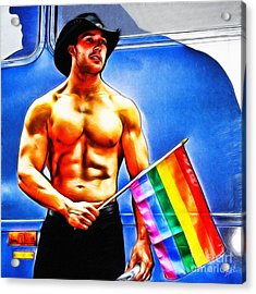 Gay Pride Acrylic Print by Nishanth Gopinathan