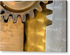 Gear Abstract Acrylic Print by Bill Mock