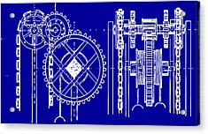 Gears Blueprint Acrylic Print by