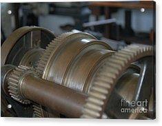 Gears Of Progress Acrylic Print by Patrick Shupert