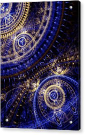 Gears Of Time Acrylic Print by Martin Capek