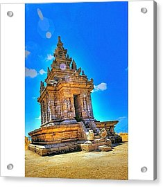 Gedong Songo (indonesian: Candi Gedong Acrylic Print by Tommy Tjahjono