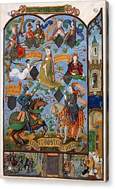 Genealogy Of Queen Isabella Acrylic Print by British Library
