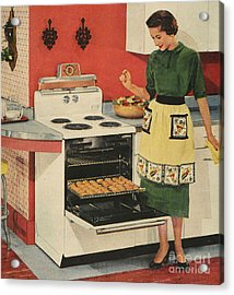 General Electric 1950s Usa  Ovens Acrylic Print by The Advertising Archives