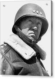 General George Patton Acrylic Print by War Is Hell Store