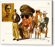 General Macarthur Acrylic Print by Dick Bobnick