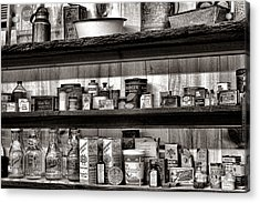 General Store Shelves Acrylic Print by Olivier Le Queinec
