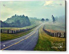 Gentle Morning - Blue Ridge Parkway II Acrylic Print by Dan Carmichael