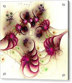 Gentle Pink Acrylic Print by Anastasiya Malakhova