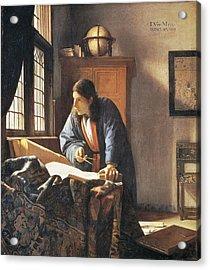 Geographer, 1669  Acrylic Print by Jan Vermeer