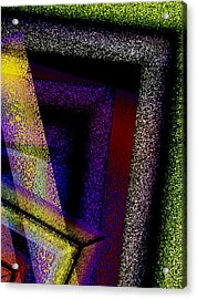 Geometric And Textured Combination Acrylic Print by Mario Perez