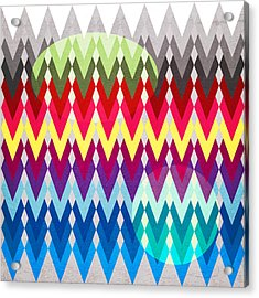 Geometric Colors  Acrylic Print by Mark Ashkenazi