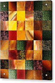 Geometric Design Squares Pattern Abstract I  Acrylic Print by Irina Sztukowski