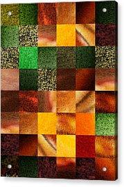 Geometric Design Squares Pattern Abstract IIi  Acrylic Print by Irina Sztukowski