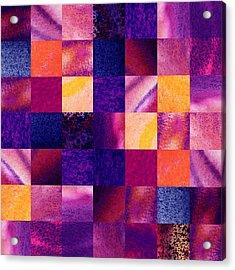 Geometric Design Squares Pattern Abstract Iv Acrylic Print by Irina Sztukowski