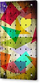 Geometric In Colors  Acrylic Print by Mark Ashkenazi