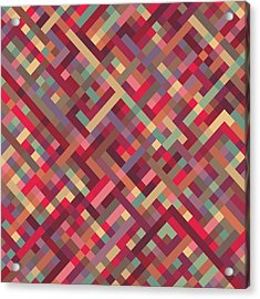 Geometric Lines Acrylic Print by Mike Taylor