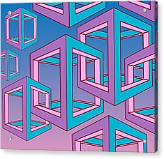 Geometric  Acrylic Print by Mark Ashkenazi