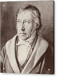 Georg Hegel  Acrylic Print by Anonymous