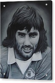 George Best Acrylic Print by David Dunne