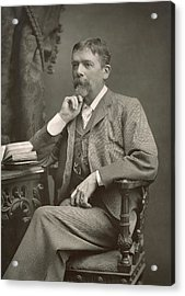 George Du Maurier Acrylic Print by Stanislaus Walery