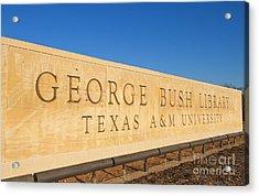 George H. Bush Library, Texas Acrylic Print by Bill Bachmann