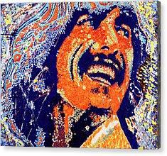 George Harrison Acrylic Print by Barry Novis