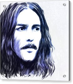 George Harrison Portrait Acrylic Print by Wu Wei