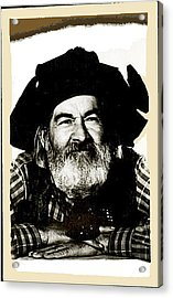 George Hayes Portrait #1 Card Acrylic Print by David Lee Guss