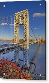 George Washington Bridge Acrylic Print by Susan Candelario